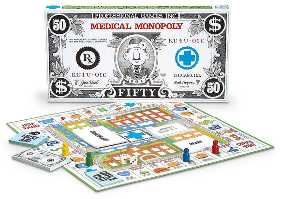 Medical Monopoly Game Board Details